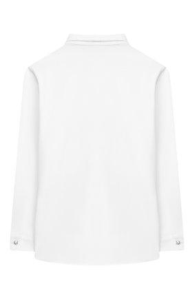 Детское хлопковая блузка ALETTA белого цвета, арт. AC666278DML/4A-8A | Фото 2