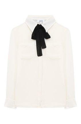 Детское блуза ALETTA бежевого цвета, арт. AE000553/9A-16A | Фото 1