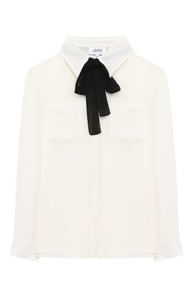 Детское блуза ALETTA бежевого цвета, арт. AE000553/4A-8A | Фото 1