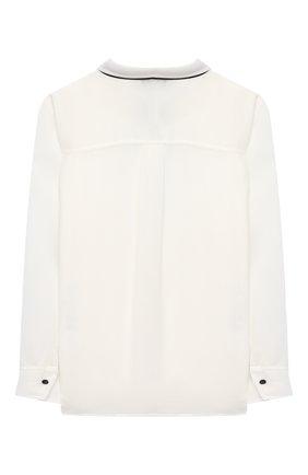 Детское блуза ALETTA бежевого цвета, арт. AE000553/4A-8A | Фото 2