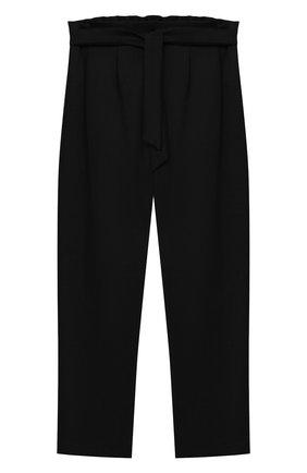 Детского брюки ALETTA черного цвета, арт. AF000540N/4A-8A | Фото 1
