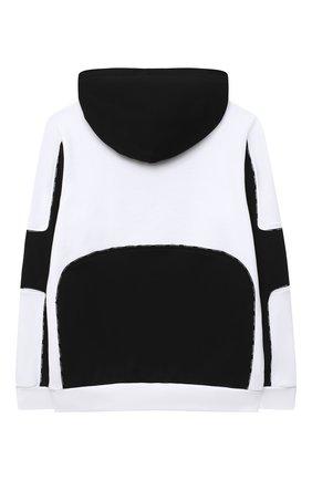 Детский хлопковая толстовка BALMAIN черно-белого цвета, арт. 6N4610/NX320/12-16 | Фото 2
