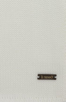 Детский шерстяной шарф IL TRENINO белого цвета, арт. 20 4030/LS   Фото 2