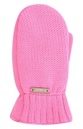 Детские шерстяные варежки IL TRENINO розового цвета, арт. 20 4062/E0 | Фото 1