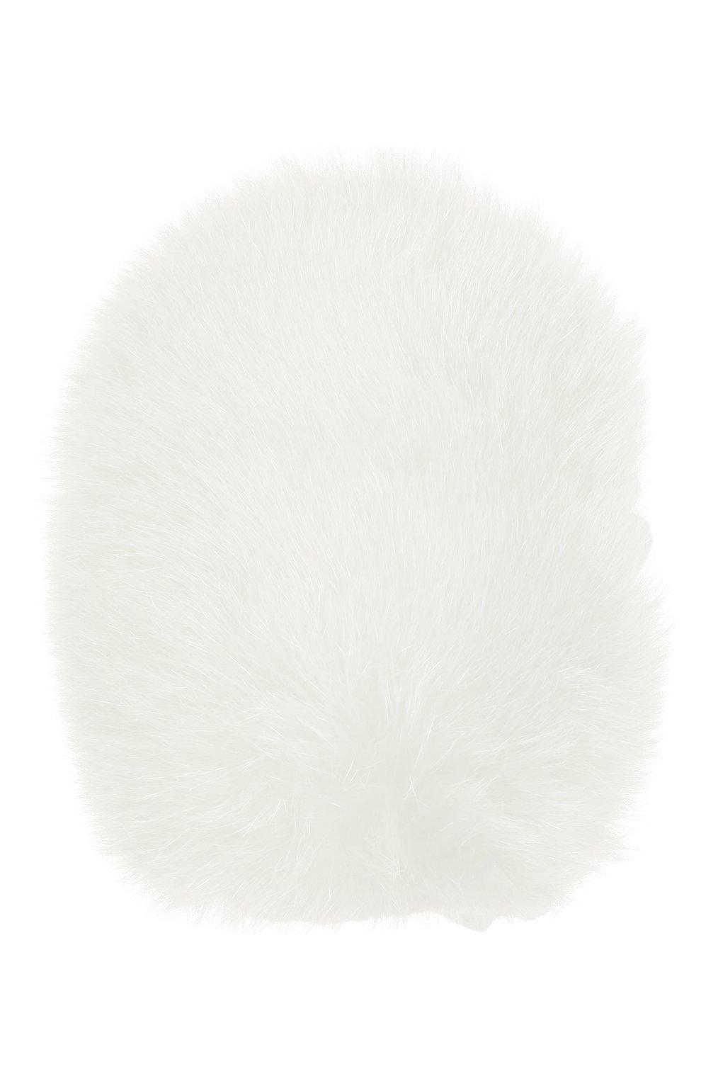 Детские шерстяные варежки с меховой отделкой IL TRENINO белого цвета, арт. 20 4078/E0 | Фото 1
