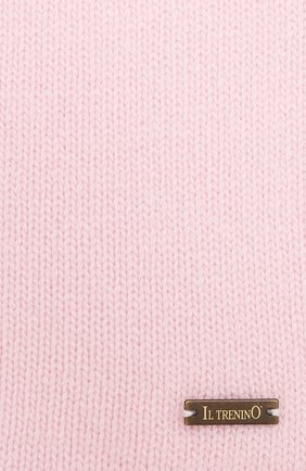 Детский шерстяной шарф IL TRENINO розового цвета, арт. 20 8220/E0 | Фото 2