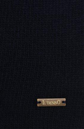 Детский шерстяной шарф IL TRENINO темно-синего цвета, арт. 20 8220/E0   Фото 2