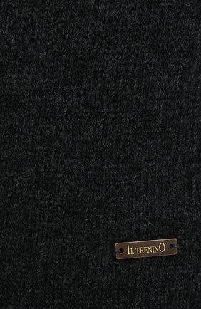 Детский шерстяной шарф IL TRENINO темно-серого цвета, арт. 20 8220/E0 | Фото 2