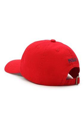 Детская хлопковая бейсболка POLO RALPH LAUREN красного цвета, арт. 322552489 | Фото 2