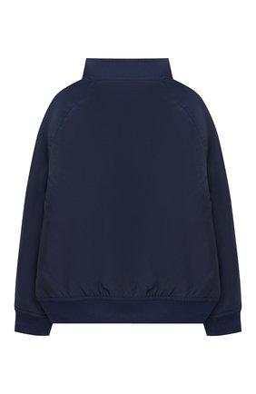 Детского хлопковая куртка POLO RALPH LAUREN синего цвета, арт. 323785763 | Фото 2