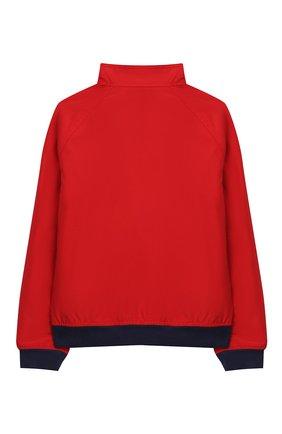 Детского хлопковая куртка POLO RALPH LAUREN красного цвета, арт. 323785763 | Фото 2