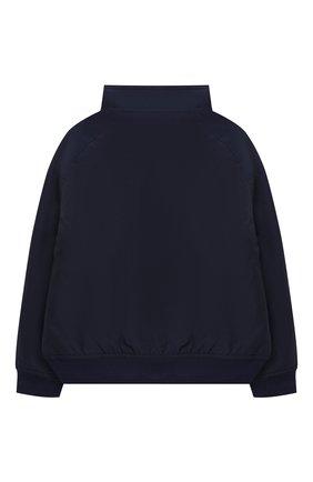 Детского хлопковая куртка POLO RALPH LAUREN синего цвета, арт. 322785763 | Фото 2