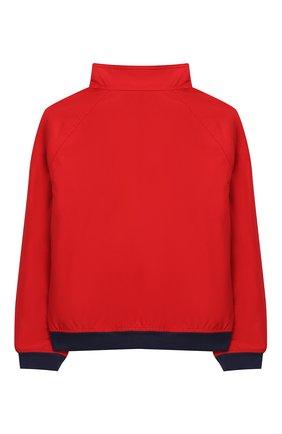 Детского хлопковая куртка POLO RALPH LAUREN красного цвета, арт. 322785763 | Фото 2