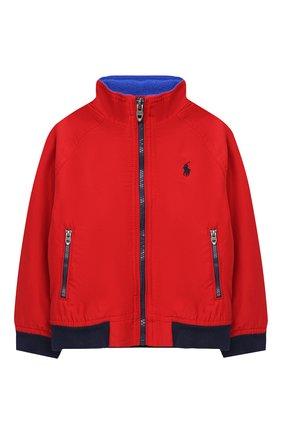 Детского хлопковая куртка POLO RALPH LAUREN красного цвета, арт. 321785763 | Фото 1
