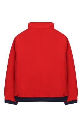 Детского хлопковая куртка POLO RALPH LAUREN красного цвета, арт. 321785763 | Фото 2