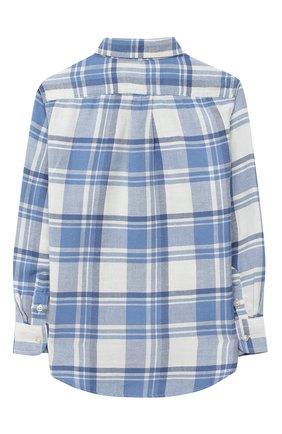 Детская хлопковая рубашка POLO RALPH LAUREN голубого цвета, арт. 322785811 | Фото 2 (Рукава: Длинные; Материал внешний: Хлопок; Случай: Повседневный)
