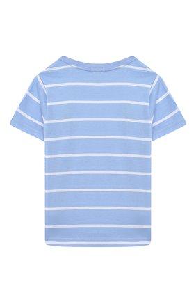 Детская хлопковая футболка POLO RALPH LAUREN голубого цвета, арт. 321786411 | Фото 2