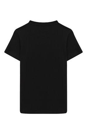 Детская хлопковая футболка BALMAIN черного цвета, арт. 6N8591/NX330/4-10 | Фото 2