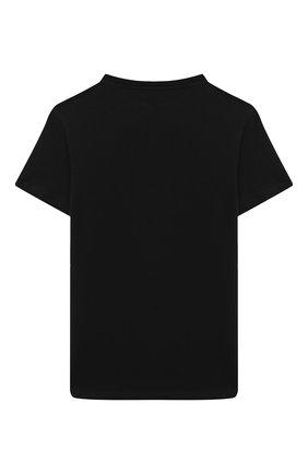 Детская хлопковая футболка BALMAIN черного цвета, арт. 6N8581/NX330/4-10 | Фото 2