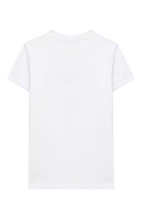 Детская хлопковая футболка BALMAIN белого цвета, арт. 6N8561/NX290/4-10 | Фото 2