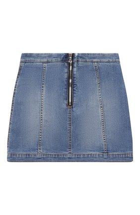 Детская джинсовая юбка BALMAIN голубого цвета, арт. 6N7040/NA320/4-10 | Фото 2