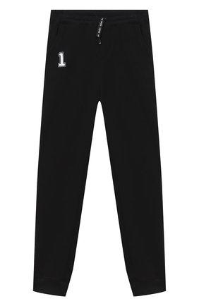 Детские хлопковые джоггеры MAKODAY черного цвета, арт. MA20P001/CoLy06 | Фото 1