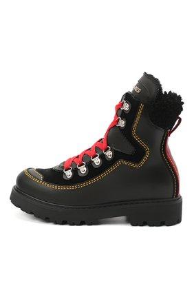 Детские кожаные ботинки DSQUARED2 черного цвета, арт. 65191/GAUCH0/36-41 | Фото 2