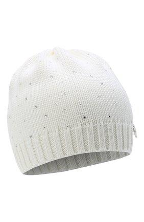 Детского шерстяная шапка IL TRENINO белого цвета, арт. 20 4026/E0 | Фото 1
