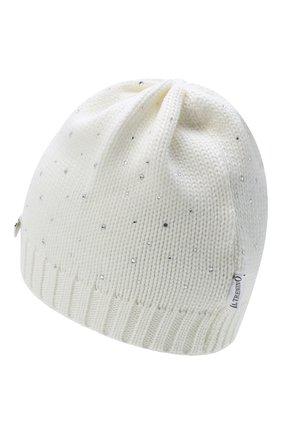 Детского шерстяная шапка IL TRENINO белого цвета, арт. 20 4026/E0 | Фото 2