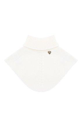 Детский шерстяной шарф-воротник IL TRENINO белого цвета, арт. 20 4058/E0 | Фото 1