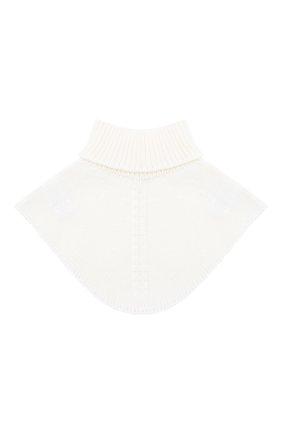 Детский шерстяной шарф-воротник IL TRENINO белого цвета, арт. 20 4058/E0 | Фото 2