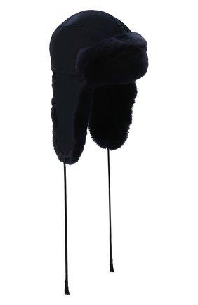 Шапка-ушанка с меховой отделкой | Фото №1