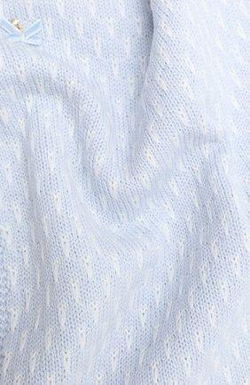 Детского шерстяное одеяло IL TRENINO голубого цвета, арт. 20 7809/E0 | Фото 2