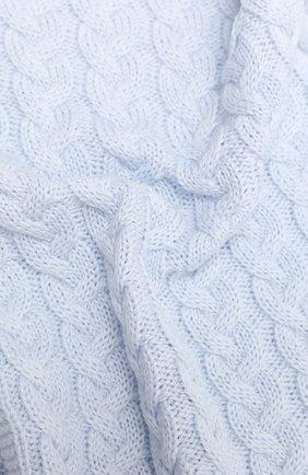 Детского шерстяное одеяло IL TRENINO голубого цвета, арт. 20 7810/E0 | Фото 2