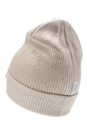 Детского шерстяная шапка IL TRENINO бежевого цвета, арт. 20 7990/E0 | Фото 2