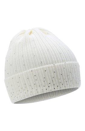 Детского шерстяная шапка IL TRENINO белого цвета, арт. 20 8030/E0 | Фото 1