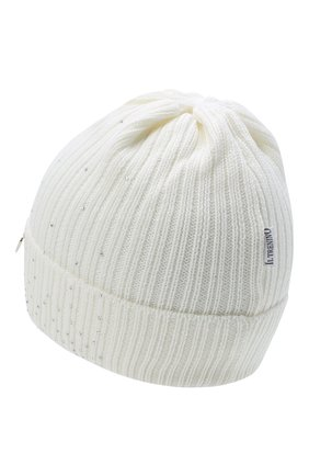 Детского шерстяная шапка IL TRENINO белого цвета, арт. 20 8030/E0 | Фото 2