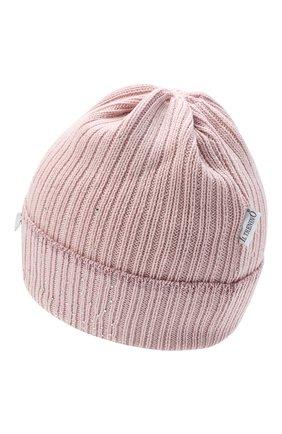 Детского шерстяная шапка IL TRENINO розового цвета, арт. 20 8030/E0 | Фото 2