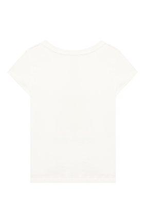 Детская хлопковая футболка POLO RALPH LAUREN белого цвета, арт. 312790444   Фото 2