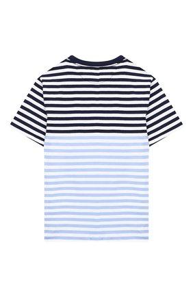 Детская хлопковая футболка POLO RALPH LAUREN голубого цвета, арт. 323786418 | Фото 2