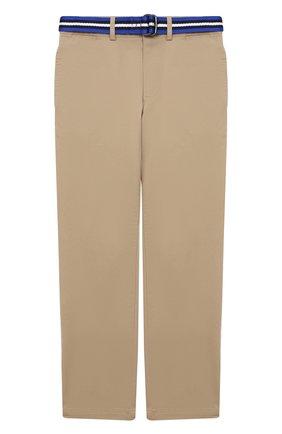 Детские брюки POLO RALPH LAUREN бежевого цвета, арт. 323785694 | Фото 1