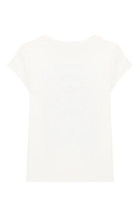 Детская хлопковая футболка POLO RALPH LAUREN белого цвета, арт. 312785449   Фото 2