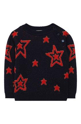 Детский шерстяной пуловер GUCCI темно-синего цвета, арт. 621873/XKBGX | Фото 1