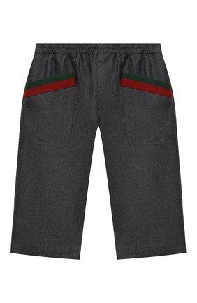 Детские шерстяные брюки GUCCI серого цвета, арт. 616382/XWAJ5 | Фото 1