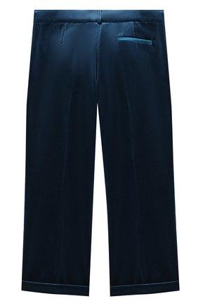 Детские бархатные брюки GUCCI голубого цвета, арт. 616363/XWAJ9 | Фото 2