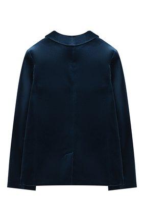Детский бархатный пиджак GUCCI голубого цвета, арт. 616360/XWAJ9 | Фото 2