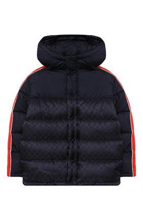 Детский пуховая куртка GUCCI синего цвета, арт. 616100/XWAJG | Фото 1