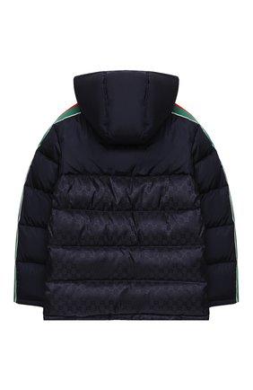 Детский пуховая куртка GUCCI синего цвета, арт. 616100/XWAJG | Фото 2