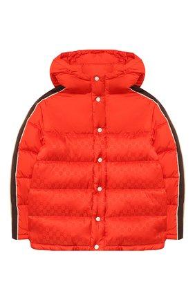 Детский пуховая куртка GUCCI красного цвета, арт. 616100/XWAJG | Фото 1