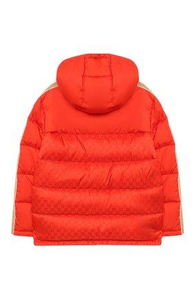 Детский пуховая куртка GUCCI красного цвета, арт. 616100/XWAJG | Фото 2